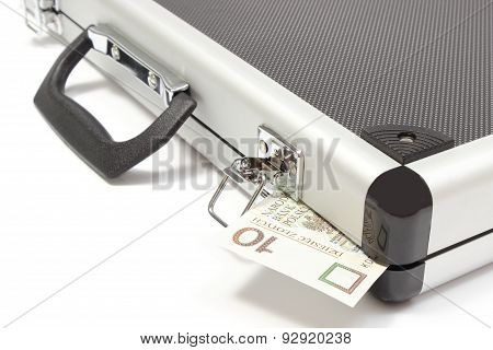 Suitcase With Polish Banknote