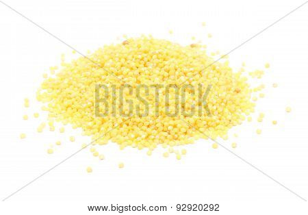 Millet Groats Isolated On White Background