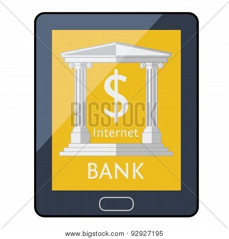 Online bank concept.