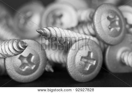 Stacked of screws