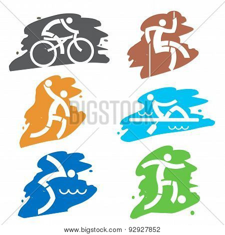 Sport  grunge icons