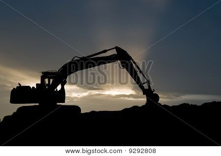 Loader Excavator Silhouette