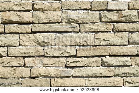 New Stone Wall Closeup