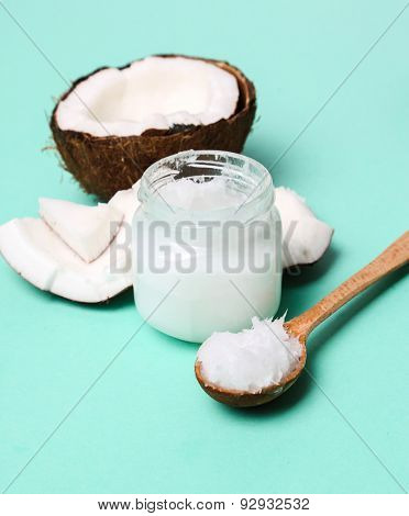 Drink. Coconut on the table