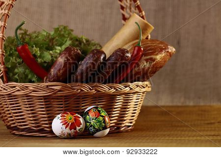 Easter Basket On Table