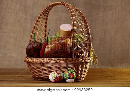Easter Basket With Products