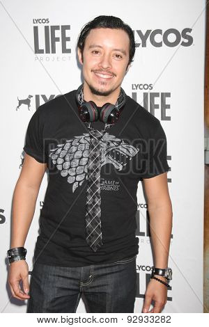 LOS ANGELES - JUN 8:  Efren Ramirez at the LA Launch Of LYCOS Life at the Banned From TV Jam Space on June 8, 2015 in North Hollywood, CA