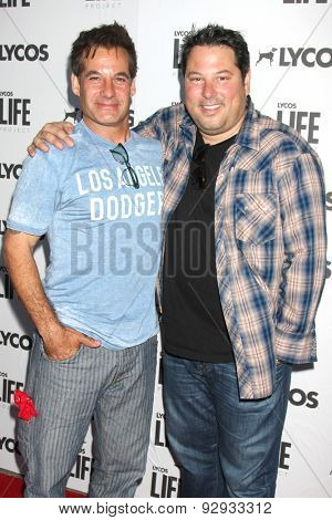 LOS ANGELES - JUN 8:  Adrian Pasdar, Greg Grunberg at the LA Launch Of LYCOS Life at the Banned From TV Jam Space on June 8, 2015 in North Hollywood, CA