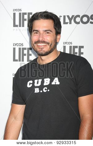 LOS ANGELES - JUN 8:  Eddie Matos at the LA Launch Of LYCOS Life at the Banned From TV Jam Space on June 8, 2015 in North Hollywood, CA