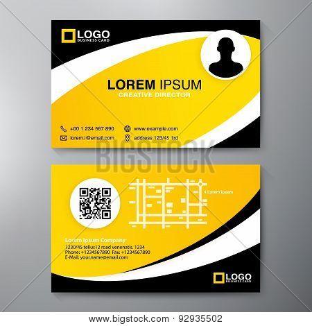 Modern Business Card Design Template.