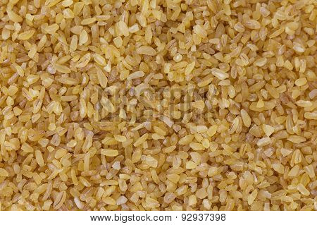 Bulgur wheat background.