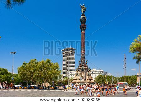 Monument of Columbus. Barcelona, Spain