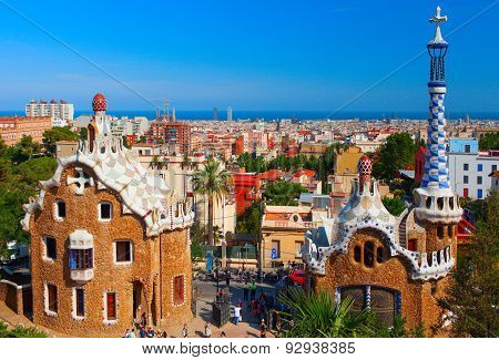 Park Guell. Barcelona, Spain.