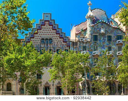 Casa Batllo building. Barcelona, Spain.