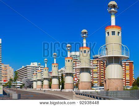 Parque de la Espana Industrial in Barcelona, Spain