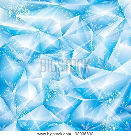 Winter snowflakes abstract Christmas background.