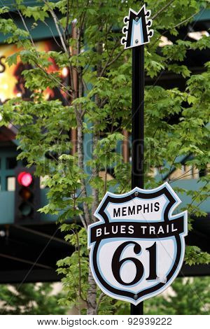 Mississippi Blues Trail sign in Memphis