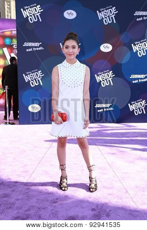 LOS ANGELES - JUN 8:  Rowan Blanchard at the