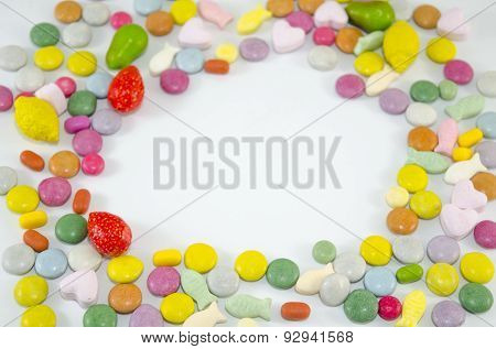 Colorful Bonbons With Copyspace