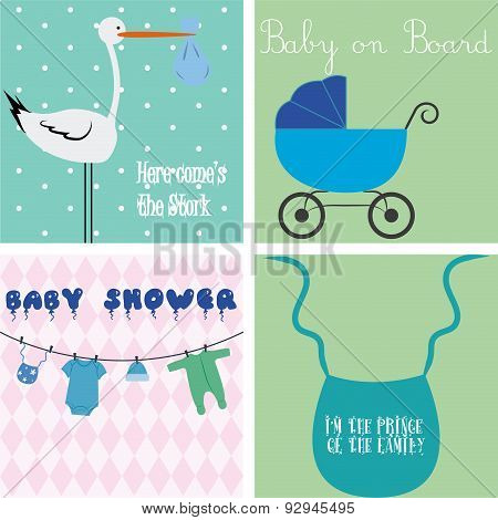 set of baby backgrounds