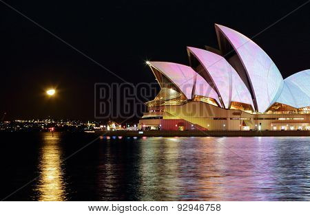 Sydney Opera House During Vivid Sydney By Night