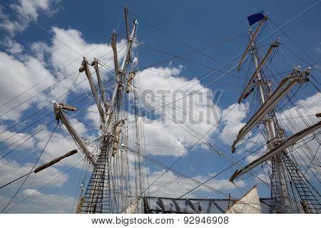 Boat Sailing - Old Sail Boat On The Sea