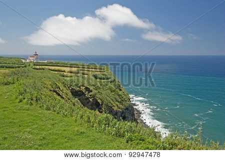 Lighthouse At Ponta Da Ferraria, Sao Miguel, Azores