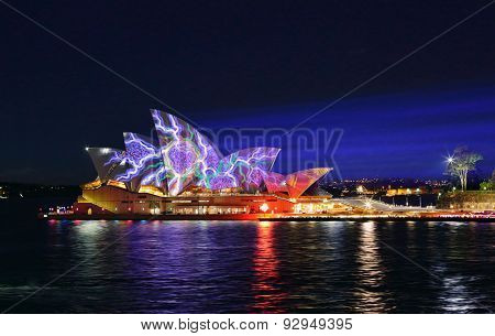 Splotches Of Colours On Sydney Opera House Vivid