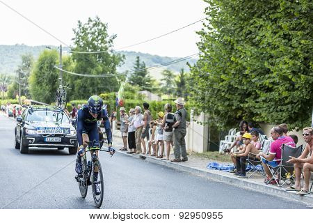 The Cyclist Jesus Herrada Lopez - Tour De France 2014