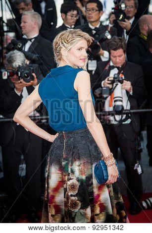 Alice Taglioni attends the opening ceremony and premiere of 'La Tete Haute ('Standing Tall') during the 68th annual Cannes Film Festival on May 13, 2015 in Cannes, France.