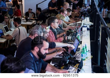 Press Center. 68th Cannes Film Festival on May 13, 2015 in Cannes, France.