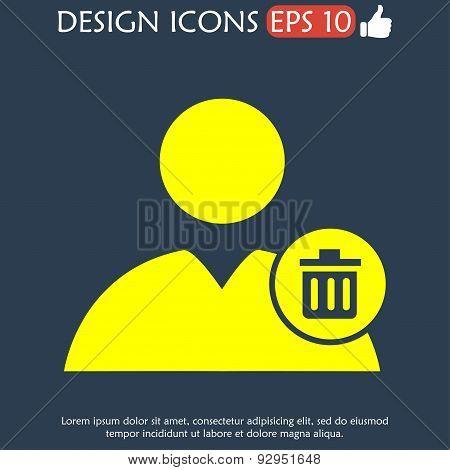 User Icon Vector Trash