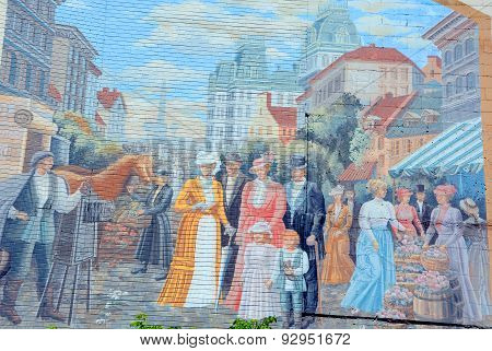 Street art story of Quebec