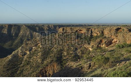 Ridges And Canyon At Sunset in Cape Range National Park Western Australia