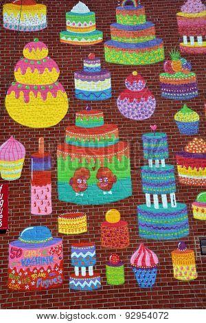 Street art cupcake