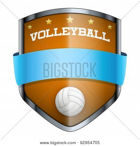Volleyball Shield badge.