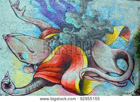 Street art rat
