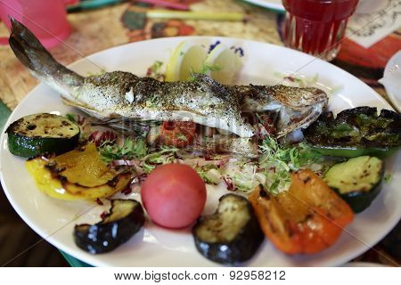 Sea Bass With Vegetables