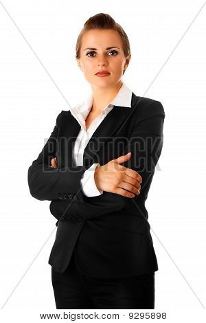 business woman with crossed arms on chest
