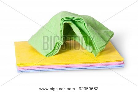Cleaning Cloths Crumpled On Top