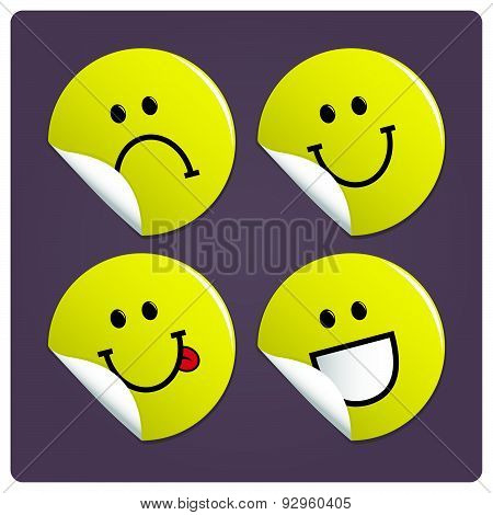 Smiling face stickers