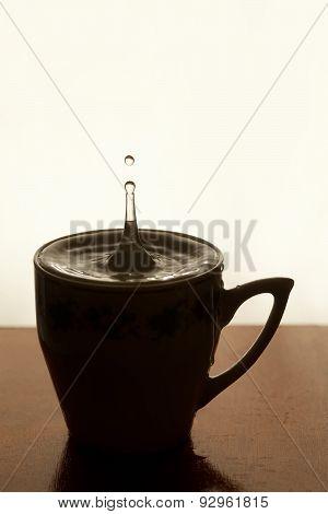 Water Drop. Cup Of Tea