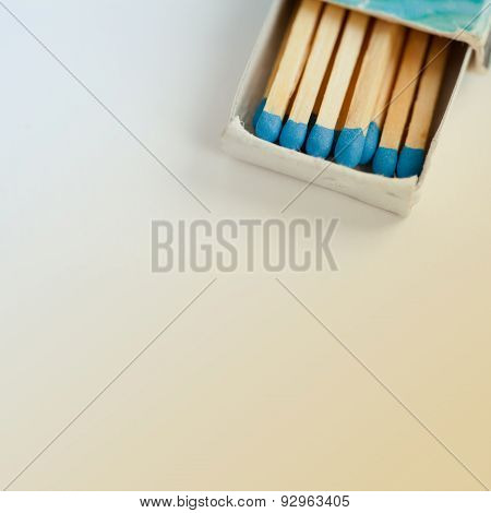 Blue Matches In Vintage Matchbox