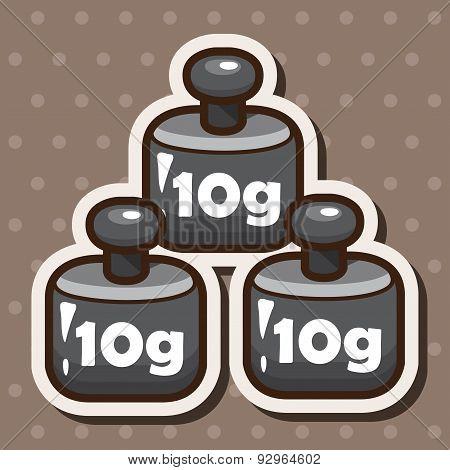 Laboratory Balance Weights Theme Elements