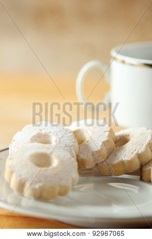 Italian Canestrelli Biscuits On A Plate