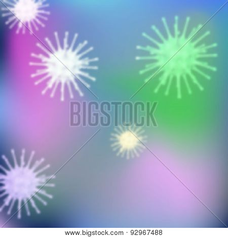 Background with bacteria. Eps 10 Vector