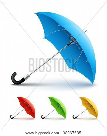 Umbrellas color set. Eps10 vector illustration. Isolated on white background