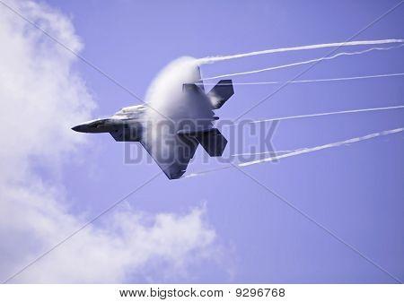 F-22 Raptor in flight over Hawaii