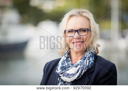 Business woman blonde