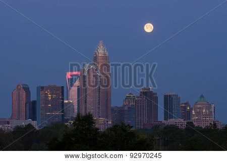 Full Moon Over Charlotte, North Carolina